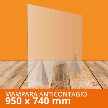 Mampara ANTICONTAGIOS 95x74 cm
