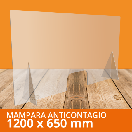 Mampara ANTICONTAGIOS 120x65cm