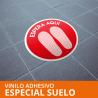 Vinilo autoadhesivo especial suelo Ø400mm