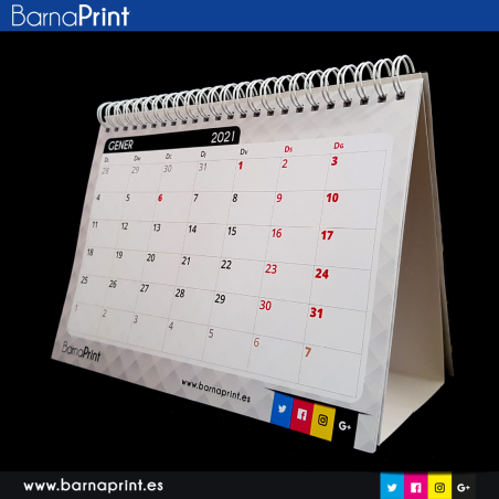 Calendari Barnaprint 2021 (CAT) amb stickers i fulls per anotar