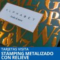 Tarjetas Visita Stamping Metalizado con Relieve