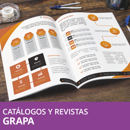 Revistas y Catálogos Grapa