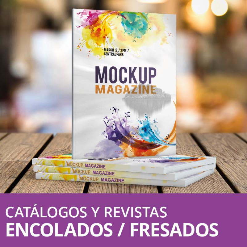 Revistas y Catálogos Encolados / Fresados