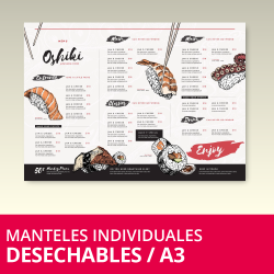 Manteles Individuales Desechables