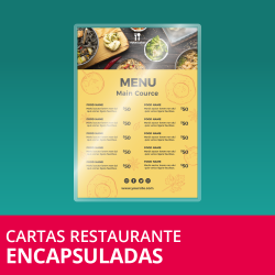 Cartas Restaurante Encapsuladas