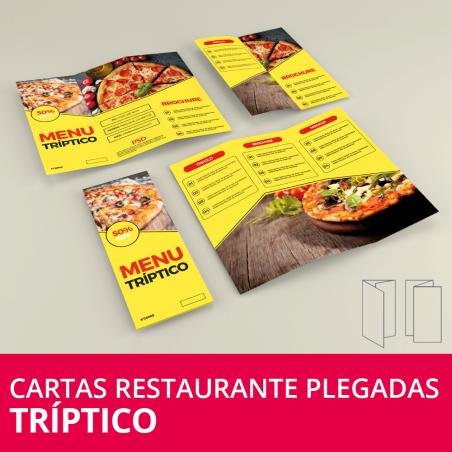 Cartas Restaurante Plegadas Tríptico