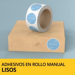Adhesivos y pegatinas en rollo (lisos) de aplicación manual