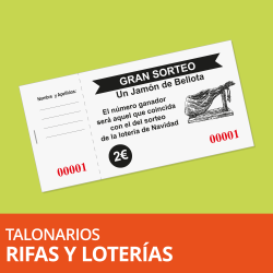Talonarios para Loterías, Rifas y Entradas